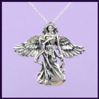 Silver necklaces sterling silver angel pendants on a 925 silver chain find necklaces of praying angels guardian angels and healing angels aloadofball Gallery